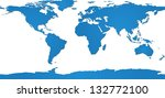 world map and globe detail... | Shutterstock .eps vector #132772100