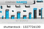 set signage. a set of...   Shutterstock .eps vector #1327726130