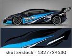 car decal wrap design vector....   Shutterstock .eps vector #1327734530