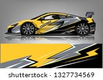 car decal wrap design vector.... | Shutterstock .eps vector #1327734569