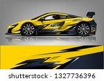 sport car racing wrap design.... | Shutterstock .eps vector #1327736396