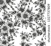 flower print. elegance seamless ... | Shutterstock .eps vector #1327737809