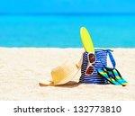 Beach Accessories. Concept Of...