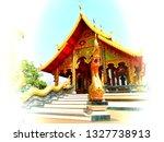 architecture in samakkhi temple ...   Shutterstock . vector #1327738913