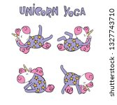 cute unicorns. sports   yoga.... | Shutterstock .eps vector #1327743710