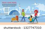 enjoy your travel cartoon...   Shutterstock .eps vector #1327747310