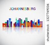 johannesburg skyline silhouette ... | Shutterstock .eps vector #1327769036