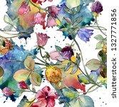 wildflowers print botanical... | Shutterstock . vector #1327771856