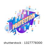 protection word design with... | Shutterstock .eps vector #1327778300
