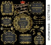 vector set  calligraphic design ...   Shutterstock .eps vector #132778118