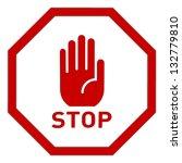 stop sign | Shutterstock . vector #132779810