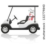 Golf Car Vector Illustration...