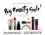 big beauty sale  cosmetics... | Shutterstock .eps vector #1327801679