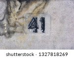 house number forty one  41  | Shutterstock . vector #1327818269