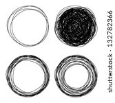 hand drawn scribble circles ... | Shutterstock .eps vector #132782366