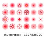 red pain circle. painful target ... | Shutterstock .eps vector #1327835720