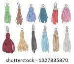 tassels accessories. leather... | Shutterstock .eps vector #1327835870