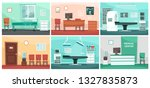 cartoon hospital room. medical... | Shutterstock .eps vector #1327835873
