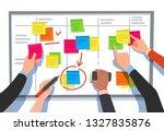 scrum board. task list ... | Shutterstock .eps vector #1327835876