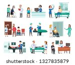 hospital patients. hospitalized ... | Shutterstock .eps vector #1327835879