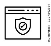 web page protection line icon