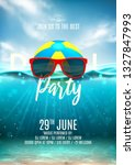 summer pool party flyer... | Shutterstock .eps vector #1327847993