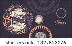 zodiac sign pisces. the symbol... | Shutterstock .eps vector #1327853276