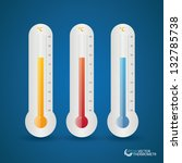 set of thermometer celsius.... | Shutterstock .eps vector #132785738