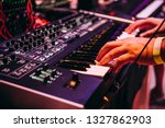 playing music using an analog... | Shutterstock . vector #1327862903