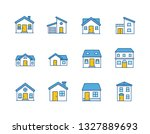 house vector   home flat icon   ...   Shutterstock .eps vector #1327889693