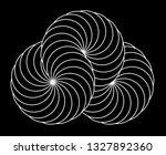 infinity symbol of interlaced... | Shutterstock .eps vector #1327892360