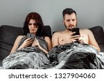 young married couple are... | Shutterstock . vector #1327904060