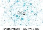 abstract futuristic   molecules ... | Shutterstock .eps vector #1327917509