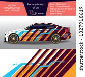 sport car in modern comouflage  ... | Shutterstock .eps vector #1327918619