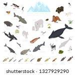 ice sheet and polar desert...   Shutterstock .eps vector #1327929290