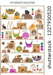 pet rodents home accessories...   Shutterstock .eps vector #1327930520