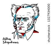 arthur schopenhauer engraved...   Shutterstock .eps vector #1327934000