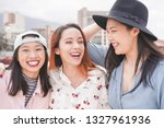 asian women friends having fun... | Shutterstock . vector #1327961936