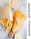 traditional british fish and...   Shutterstock . vector #1327962599