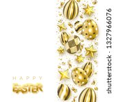 easter banner with realistic... | Shutterstock .eps vector #1327966076
