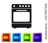 black oven icon isolated on... | Shutterstock .eps vector #1327967246