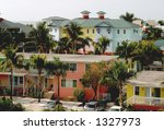 Pastel coloured property in Florida - stock photo