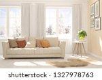 white stylish minimalist room... | Shutterstock . vector #1327978763