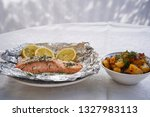 salmon fillet or steak baked in ...