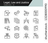 legal  law and justice icons....