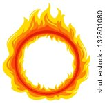 illustration of a fireball on a ... | Shutterstock .eps vector #132801080
