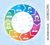 social media concept vector... | Shutterstock .eps vector #132801290
