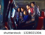 a group of friends playing... | Shutterstock . vector #1328021306