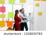 group of people working at... | Shutterstock . vector #1328033783