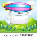 illustration of an empty banner ... | Shutterstock . vector #132803708